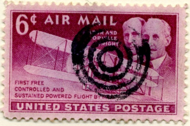 Scott C45 Wright Brothers 6 Cent Airmail Stamp a