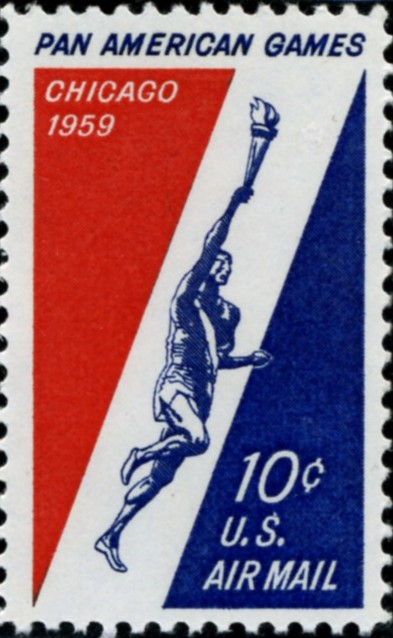 Scott C56 Pan American Games 10 Cent Airmail Stamp