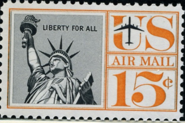 Scott C58 Statue of Liberty 15 Cent Airmail Stamp