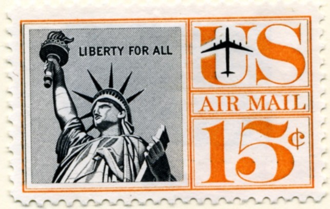 Scott C58 Statue of Liberty 15 Cent Airmail Stamp a