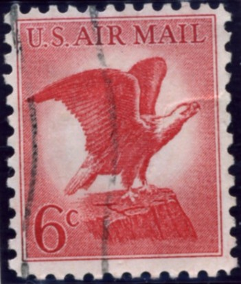 Scott C67 Eagle Perched on Rock 6 Cent Airmail Stamp