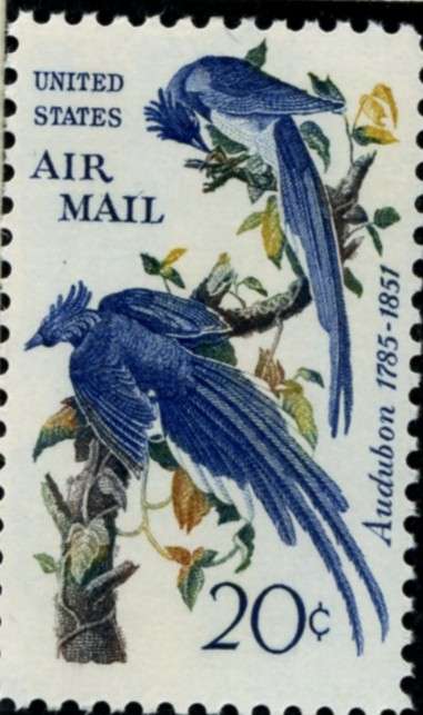 Scott C71 Columbia Jays 20 Cent Airmail Stamp