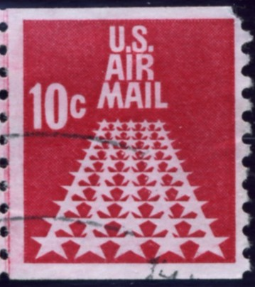 Scott C73 Runway of Stars 10 Cent Airmail Coil Stamp