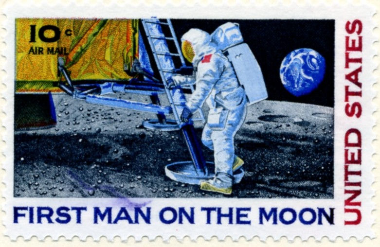 Scott C76 First Man On The Moon 10 Cent Airmail Stamp a