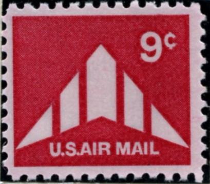 Scott C77 Delta Wing 9 Cent Airmail Stamp
