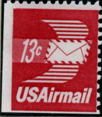 Scott C79 Winged Letter 13 Cent Airmail Stamp