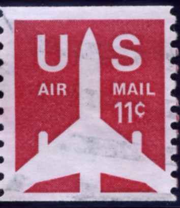 Scott C82 Jetliner 11 Cent Airmail Coil Stamp
