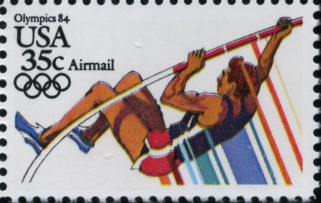 Scott C112 Summer Olympics Pole Vault 35 Cent Airmail Stamp