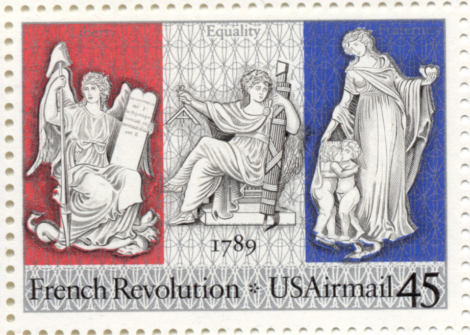 Scott C120 French Revolution 45 Cent Airmail Stamp