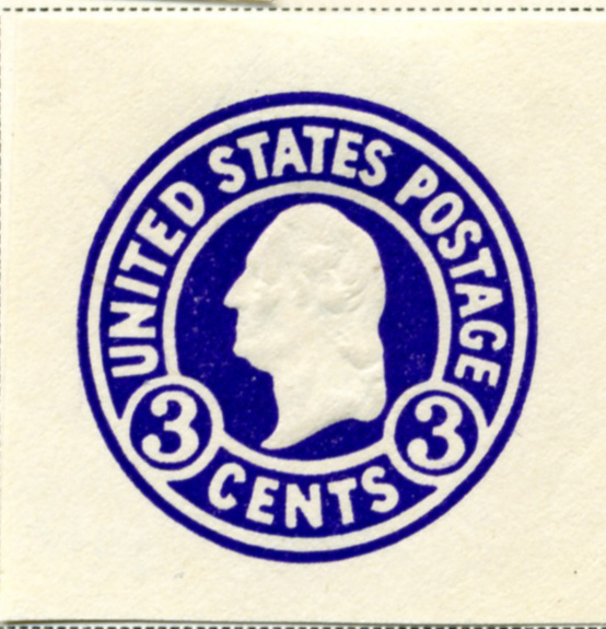 Scott U436 3 Cent Envelope Stamp George Washington on White