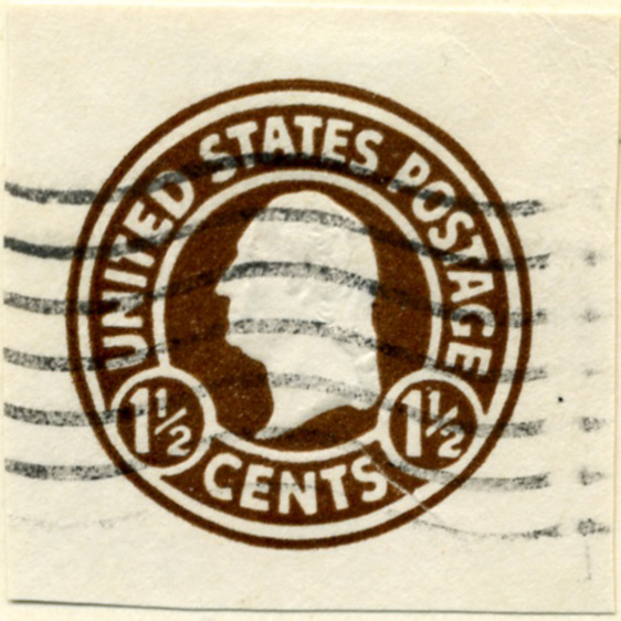 Scott U481 1 1/2 Cent Envelope Stamp George Washington on White