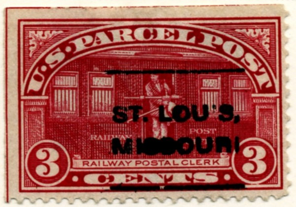 Scott Q3 3 Cent Parcel Post Stamp Railway Postal Clerk