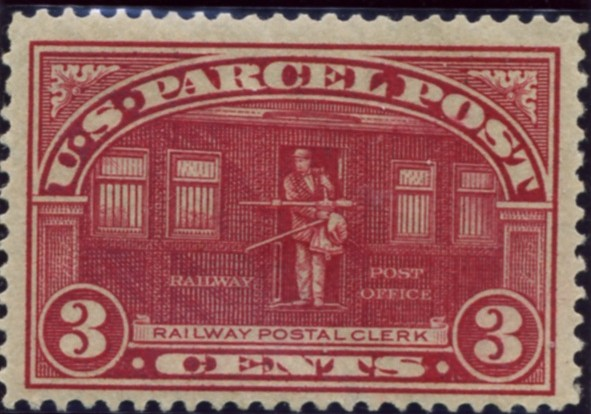 Scott Q3 3 Cent Parcel Post Stamp Railway Postal Clerk a