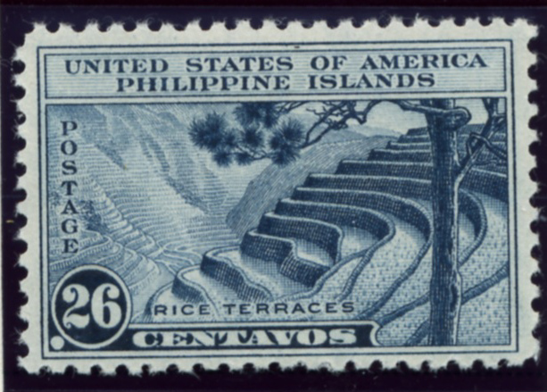 Scott PIPS391 Philippines 26 Centavos Stamp Rice Terraces