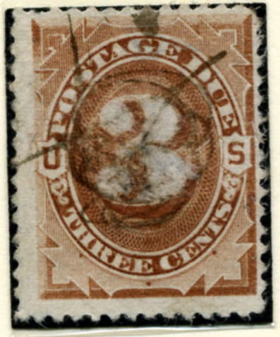 Scott J3 3 Cent Postage Due Stamp a