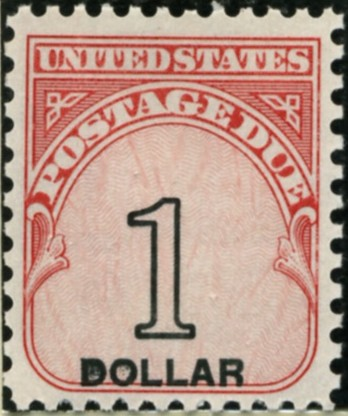 Scott J100 1 Dollar Postage Due Stamp