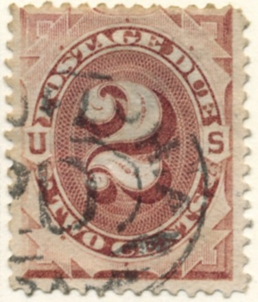 Scott J16 2 Cent Postage Due Stamp