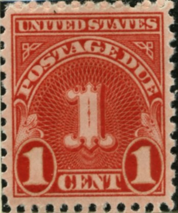 Scott J80 1 Cent Postage Due Stamp a