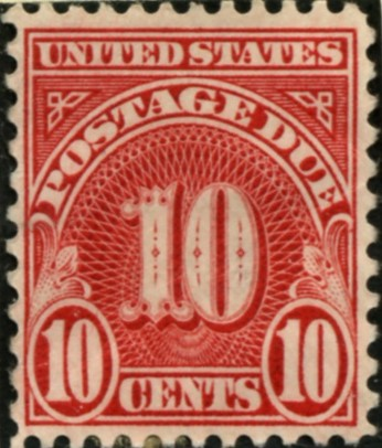 Scott J84 10 Cent Postage Due Stamp a