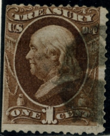 Scott O72 1 Cent Official Stamp Treasury Department