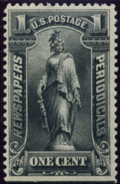 Scott PR114 1 Cent Newspapers and Periodicals Stamp America Black