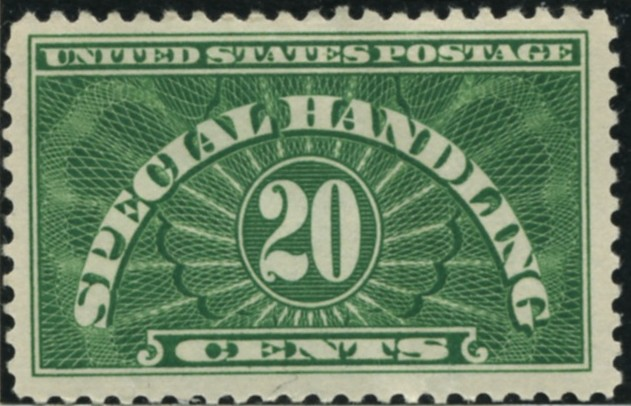 Scott QE3 20 Cents Special Handling Stamp
