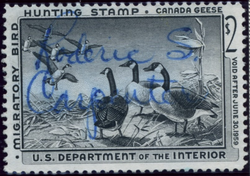 Scott RW25 2 Dollar Department of the Interior Duck Stamp Canada Geese