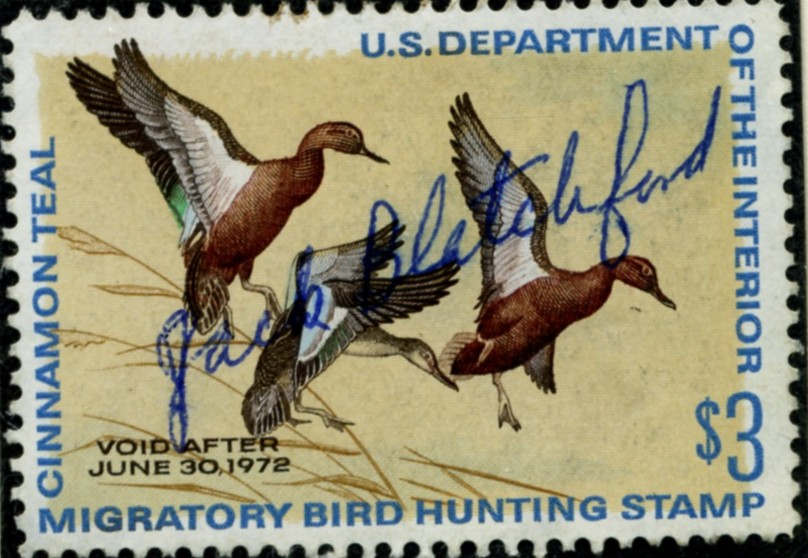 Scott RW38 3 Dollar Department of the Interior Duck Stamp Cinnamon Teal