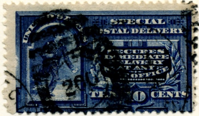 Scott E4 10 Cent Special Delivery Stamp