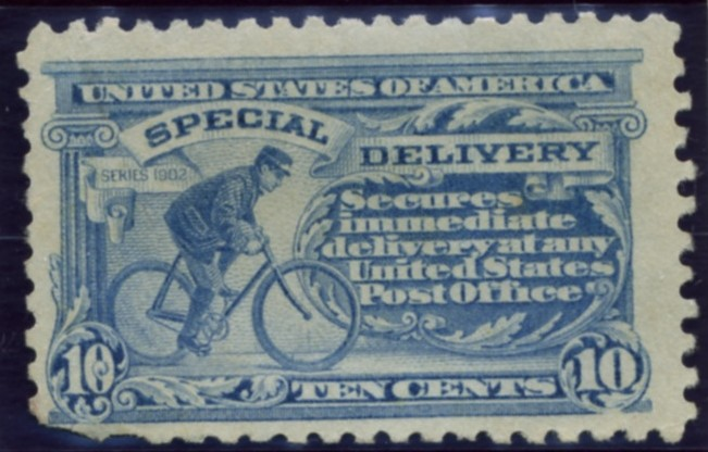 Scott E9 10 Cent Special Delivery Stamp Bicycle Messenger