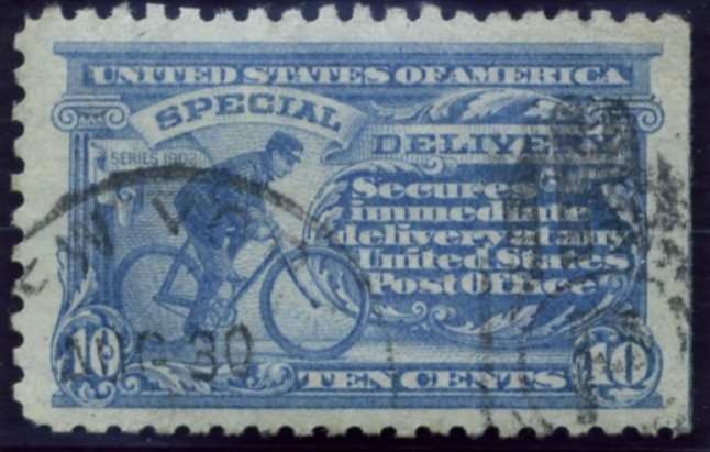 Scott E10 10 Cent Special Delivery Stamp Bicycle Messenger