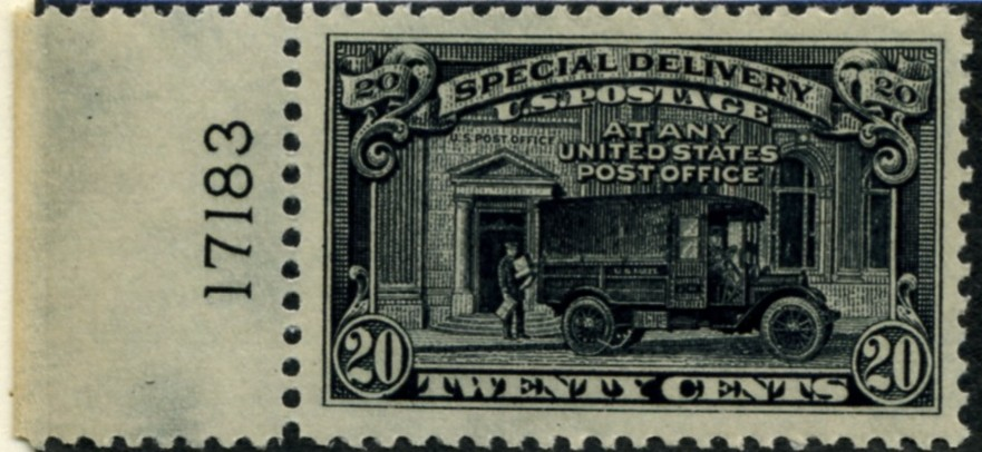 Scott E19 20 Cent Special Delivery Stamp Mail Truck a