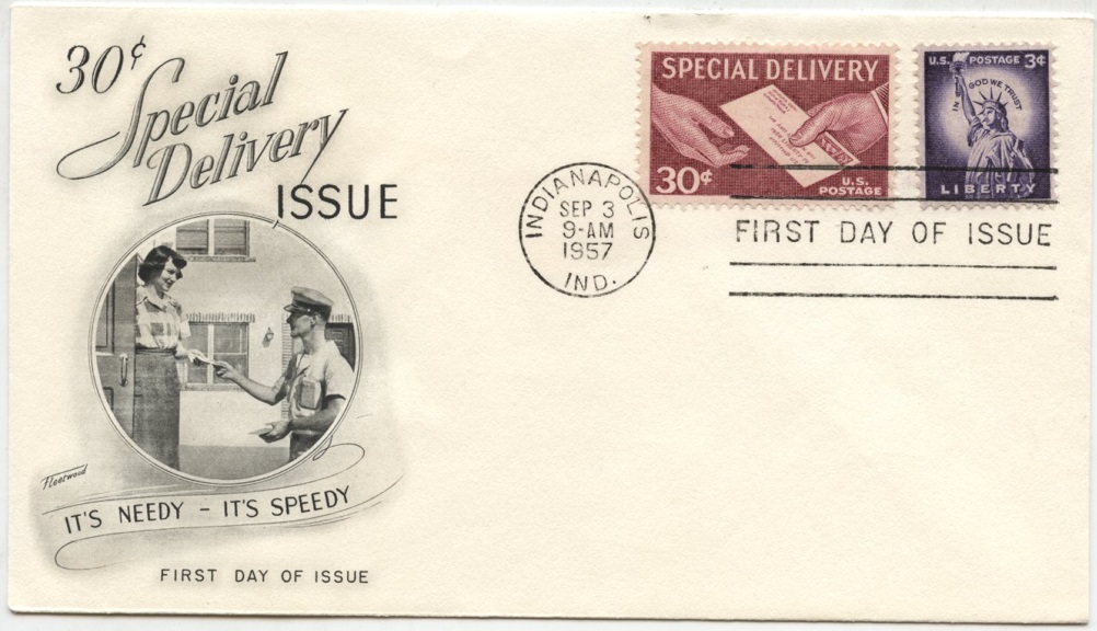 Scott E21 30 Cent Special Delivery Stamp Handing Letter First Day Cover