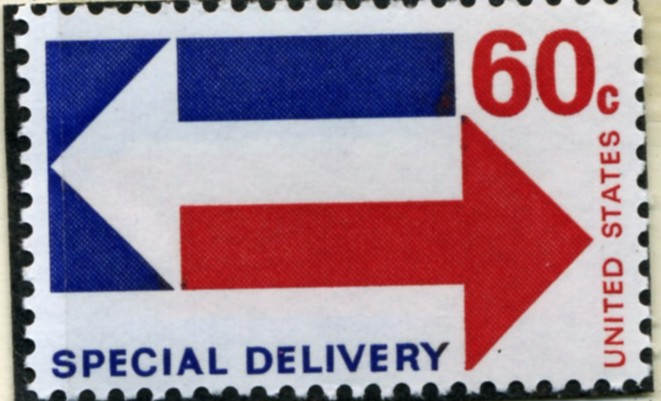 Scott E23 60 Cent Special Delivery Stamp Arrows a