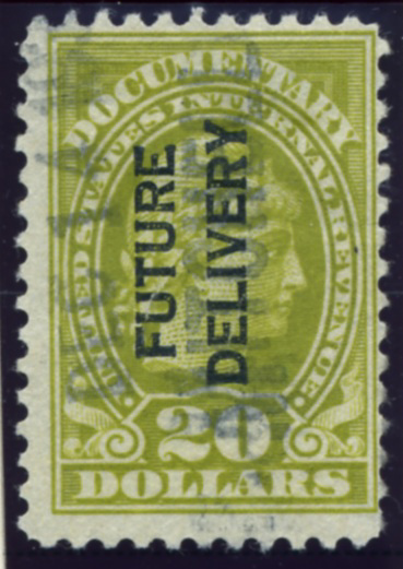 Scott RC15 20 Dollar Internal Revenue Documentary Stamp Future Delivery
