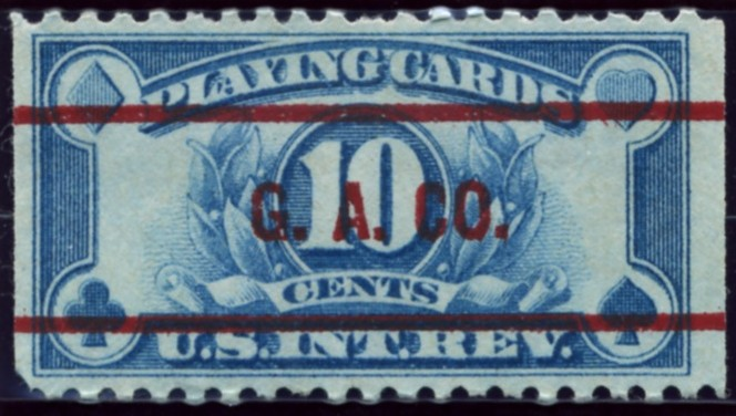 Scott RF 10 Cents Internal Revenue Playing Cards Stamp