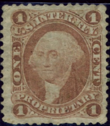 Scott R3 1 Cent Internal Revenue Stamp Proprietary