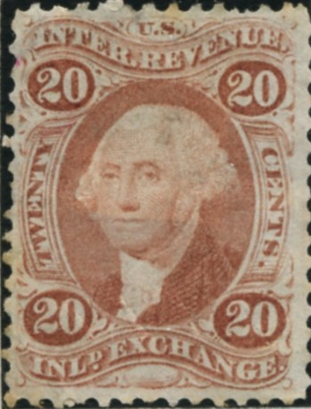 Scott R42 20 Cents Internal Revenue Stamp Inland Exchange