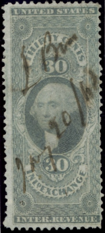 Scott R52 30 Cents Internal Revenue Stamp Inland Exchange a