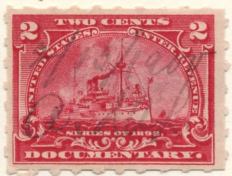 Scott R164 2 Cent Internal Revenue Documentary Stamp Watermarked USIR