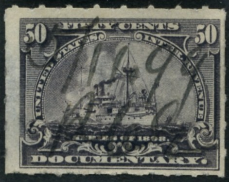 Scott R171 50 Cent Internal Revenue Documentary Stamp Watermarked USIR b