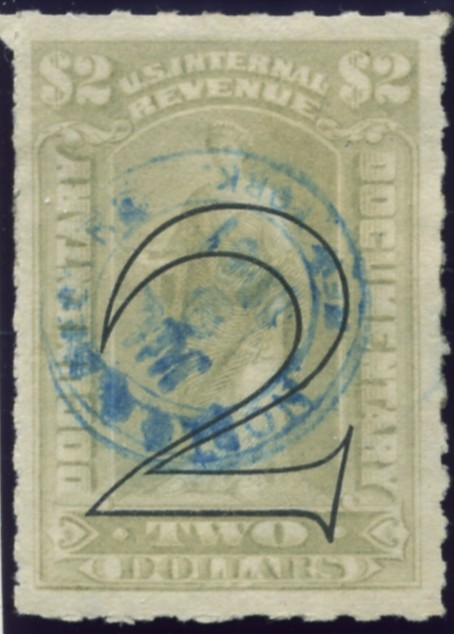 Scott R185 2 Dollar Surcharged Internal Revenue Documentary Stamp Watermarked USPS