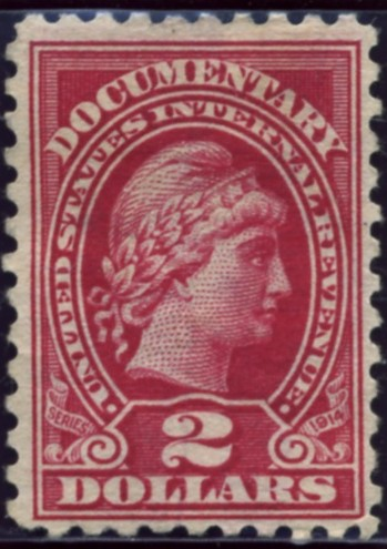 Scott R218 2 Dollar Internal Revenue Documentary Stamp Watermarked USIR