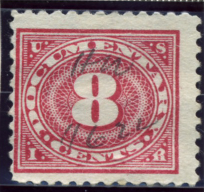 Scott R233 8 Cent Internal Revenue Documentary Stamp Watermarked USIR