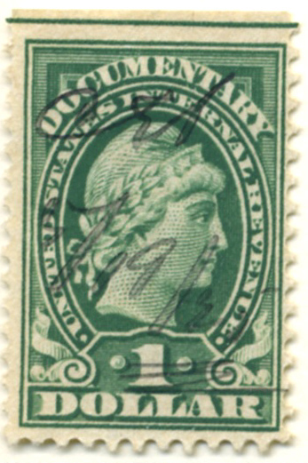 Scott R240 $1 Dollar Internal Revenue Documentary Stamp Watermarked USIR