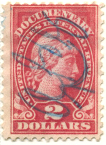Scott R241 2 Dollar Internal Revenue Documentary Stamp Watermarked USIR
