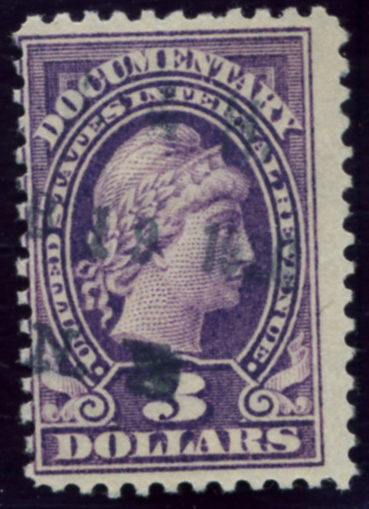 Scott R242 3 Dollar Internal Revenue Documentary Stamp Watermarked USIR