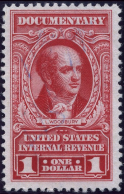 Scott R666 1 Dollars Internal Revenue Documentary Stamp Watermarked USIR