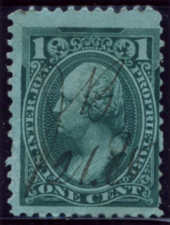Scott RB11b 1 Cent Internal Revenue Proprietary Stamp Watermark USIR