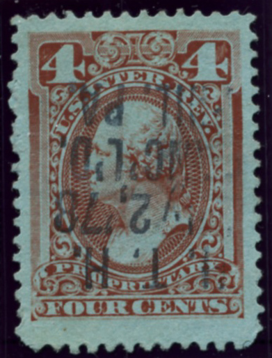 Scott RB14b 4 Cent Internal Revenue Proprietary Stamp Watermark USIR
